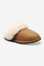 Brown Shoes for Women: Women's Eddie Bauer Shearling Scuff Slipper