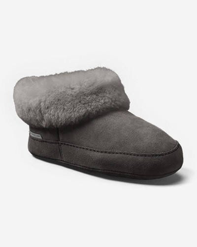 Suede Boots for Women: Women's Eddie Bauer Shearling Boot Slippers