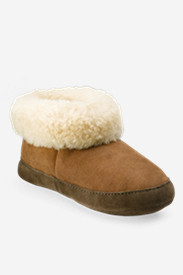 Brown Shoes for Women: Women's Eddie Bauer Shearling Boot Slippers