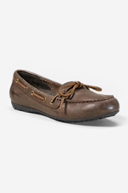 Brown Shoes for Women: Women's Eddie Bauer Leather Moc