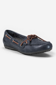 Blue Shoes for Women: Women's Eddie Bauer Leather Moc