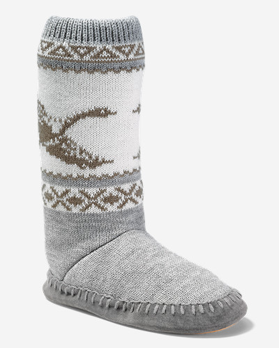 White Shoes for Women: Women's Eddie Bauer Slope Side Lounge Boot