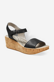 Black Shoes for Women: Women's Eddie Bauer Kara Wedge Sandal