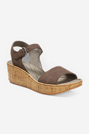 Brown Shoes for Women: Women's Eddie Bauer Kara Wedge Sandal