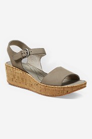 Leather Shoes for Women: Women's Eddie Bauer Kara Wedge Sandal