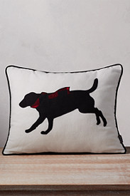 Lab With Scarf Decorative Pillow