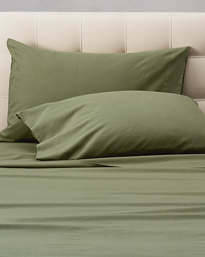 Pillowcases: Flannel Pillowcase Set - Solid