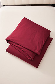 Red Bedding: Flannel Duvet Cover - Solid