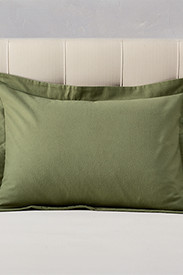 Flannel Shams: Flannel Pillow Sham - Solid