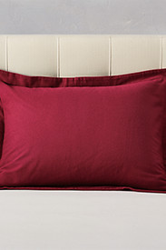 Red Bedding: Flannel Pillow Sham - Solid