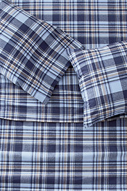 Cotton Sheets: Portuguese Flannel Sheet Set - Plaids & Heathers