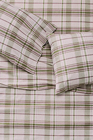 Plaid Bedding: Portuguese Flannel Sheet Set - Plaids & Heathers