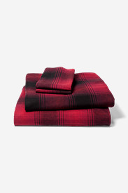 Red Sheets: Portuguese Flannel Sheet Set - Plaids & Heathers