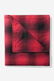 Red Bedding: Flannel Duvet Cover - Pattern