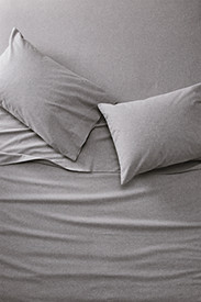 Insulated Bedding: Flannel Sheet Set - Heather