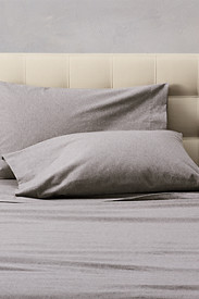 Insulated Bedding: Flannel Pillowcase Set - Heather