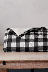 Plaid Bedding: Oversized Down Throw
