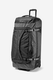 Black Suitcases: Expedition Drop Bottom Rolling Duffel - Extra Large
