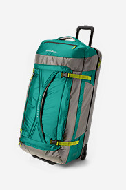 Nylon Suitcases: Expedition Drop Bottom Rolling Duffel - Extra Large