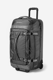 Black Suitcases: Expedition Drop-Bottom Rolling Duffel - Large