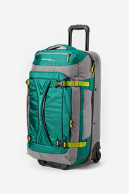 Green Suitcases: Expedition Drop-Bottom Rolling Duffel - Large