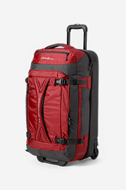 Red Suitcases: Expedition Drop-Bottom Rolling Duffel - Large