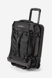 Black Suitcases: Expedition Drop Bottom Rolling Duffel - Medium
