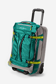 Nylon Suitcases: Expedition Drop Bottom Rolling Duffel - Medium