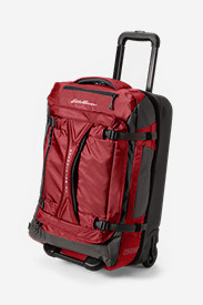 Red Suitcases: Expedition Drop Bottom Rolling Duffel - Medium