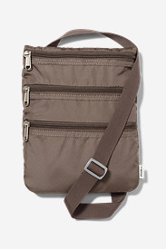 Brown Luggage: Connect 3-Zip Travel Bag