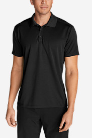 Black Shirts for Men: Men's Resolution Short-Sleeve Polo Shirt