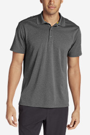 Gray Polo Shirts for Men: Men's Resolution Short-Sleeve Polo Shirt