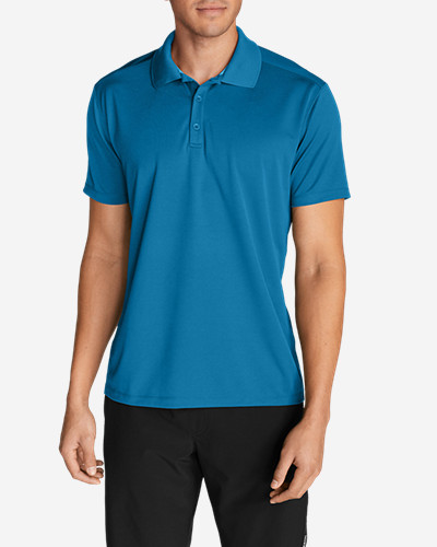 Blue Polo Shirts for Men: Men's Resolution Short-Sleeve Polo Shirt