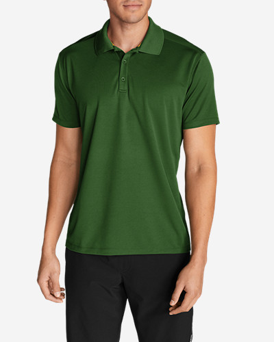 Green Shirts for Men: Men's Resolution Short-Sleeve Polo Shirt