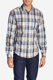 Blue Shirts for Men: Men's Expedition Flannel Shirt - Spring