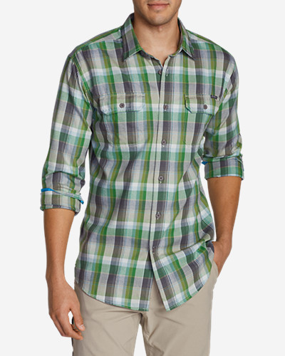 Green Shirts for Men: Men's Expedition Flannel Shirt - Spring