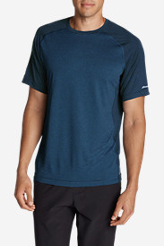 Blue Shirts for Men: Men's Resolution Short-Sleeve T-Shirt - Stripe