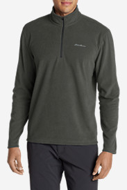 Green Jackets for Men: Men's Quest Fleece 1/4-Zip Pullover
