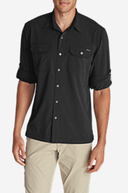 Black Shirts for Men: Men's Departure Long-Sleeve Shirt