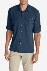 Blue Shirts for Men: Men's Departure Long-Sleeve Shirt