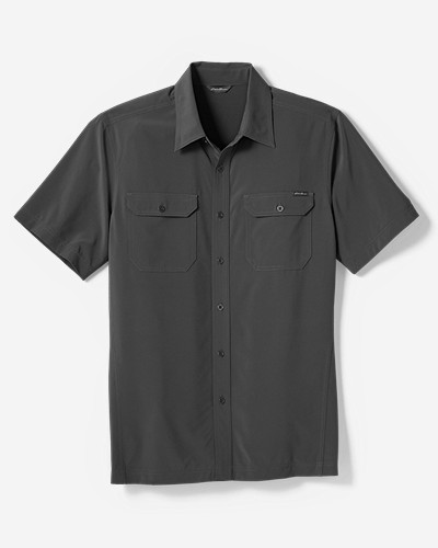 Green Shirts for Men: Men's Departure Short-Sleeve Shirt
