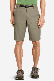 Beige Cargo Shorts for Men: Men's Exploration Cargo Shorts