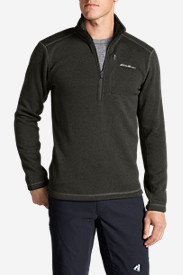 Winter Coats: Men's Radiator Fleece 1/4-Zip Mock Neck Pullover