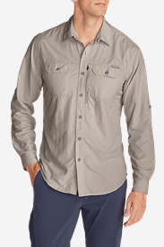 Beige Dress Shirts for Men: Men's Exploration Long-Sleeve Shirt