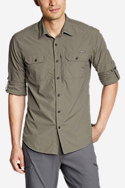 Polyester T-Shirts for Men: Men's Exploration Long-Sleeve Shirt