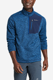 Blue Jackets: Men's Cloud Layer Pro 1/4-Zip Pullover