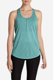 Green Tops for Women: Women's Resolution Burnout Tank Top