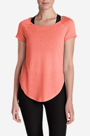 Orange Tops for Women: Women's Resolution Burnout Tunic