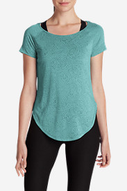 Green Tops for Women: Women's Resolution Burnout Tunic