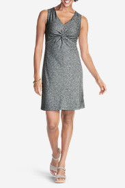 Gray Dresses for Women: Women's Aster Tie The Knot Dress - Space Dye